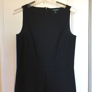 Heavy material dress A-line black